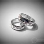 Обручальные кольца мокуме
