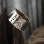 Мужское кольцо мокуме гане