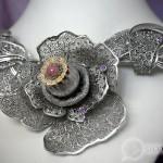 Колье «Цветы зари»