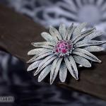 Брошь-кулон «Хризантема»
